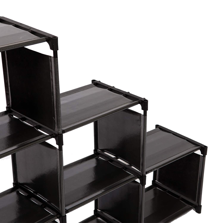 à 6 Noir de Meuble Meerveil CubesÉtagère RangementSéparateur Bibliothèque Étagère escalierArmoire uTK1cJFl3