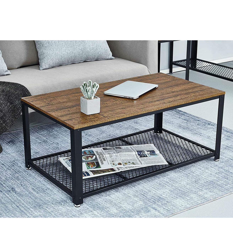 Table Basse Industrielle Table de Salon Style Vintage, Industriel
